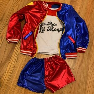 DC SUICIDE SQUAD HARLEY QUINN GIRLS COSTUME 6-8